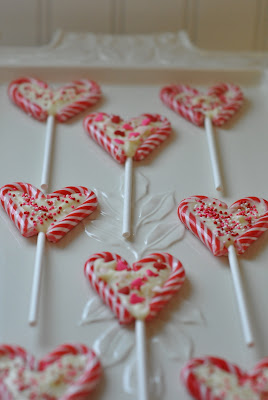 Candy Cane Heart Sticks