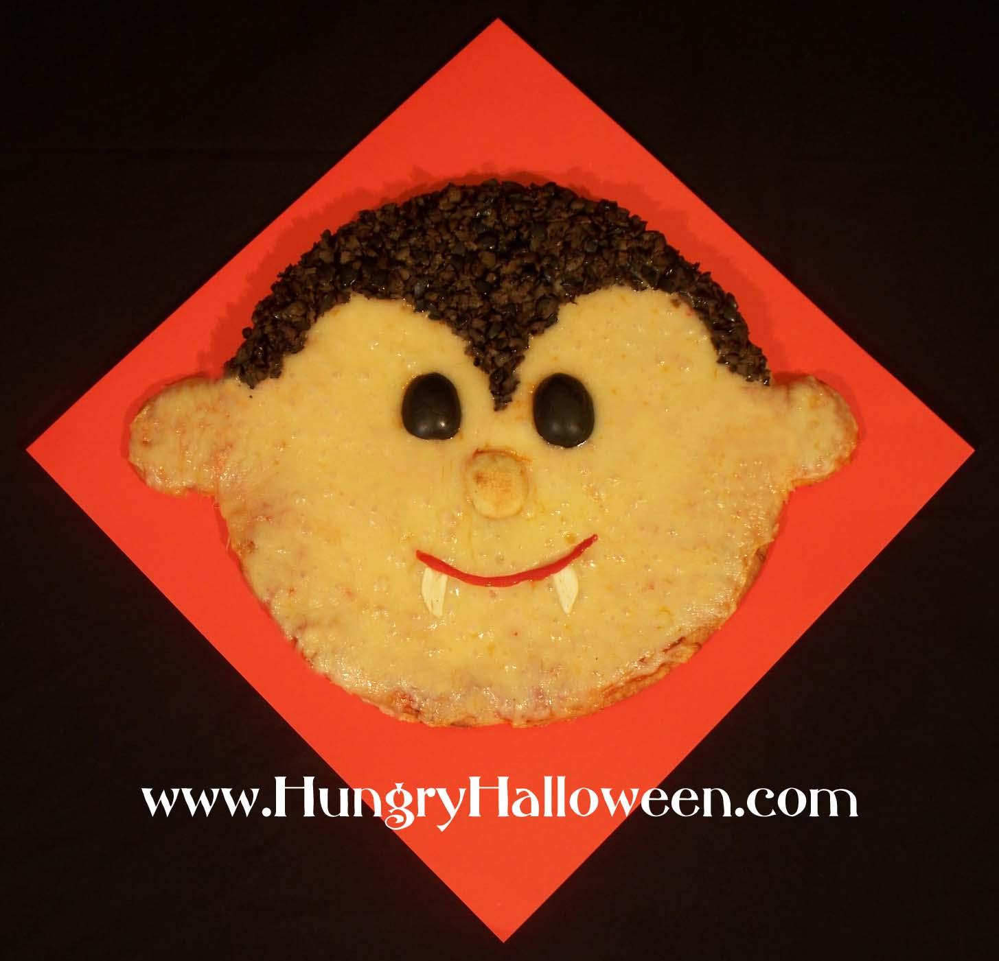 Halloween Pizza Vampire - Hungry Happenings Halloween
