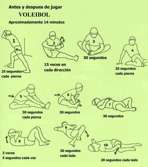 Una buena elongación previene lesiones