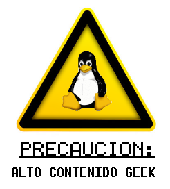 precaucion alto contenido geek