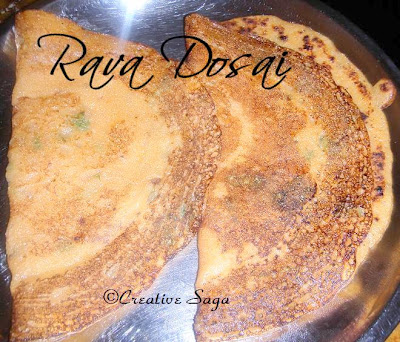 different rava dosai