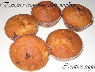 banana chocochips muffins