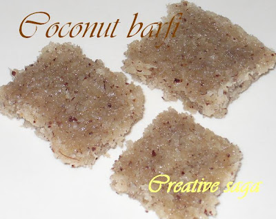 coconut burfi