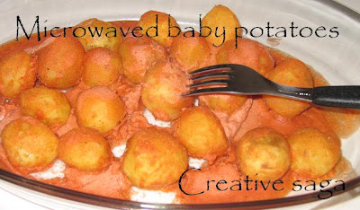 microwave baby potatoes