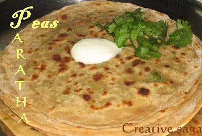peas paratha