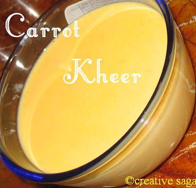 carrot payasam/gajar ka kheer