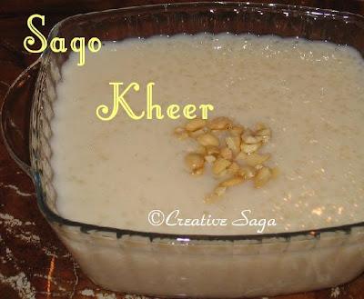 sago/sabudana kheer