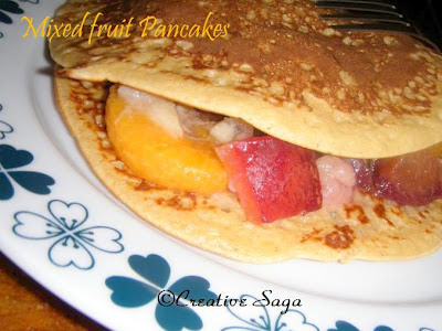 mixed fruit pancakes