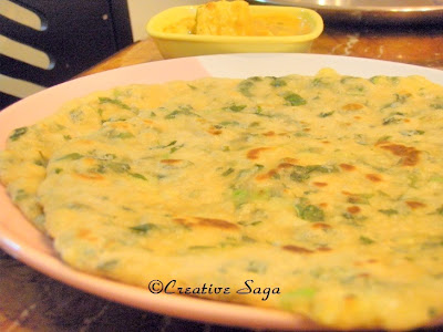 spinach potato naans