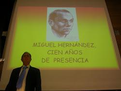 Recital sobre Miguel Hernández en San Sebastián, diciembre 2009