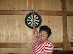 Brenda hits the bull's eye!