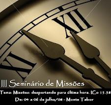 PARTICIPE DO III SEMINÁRIO DE MISSÕES