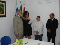 Camila Montalvão -  Prestando juramento para receber Carteira da OAB