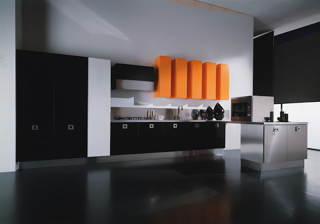 Cupboards kitchen and bath glamour for halloween - Glossy black kitchen cabinets ...