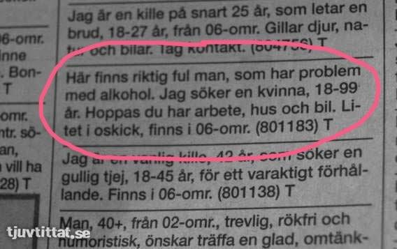 kontaktannonser för seniorer Hässleholm