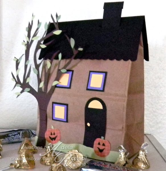 Halloween paper bag haunted house craft preschool crafts for Brown paper bag crafts for preschoolers