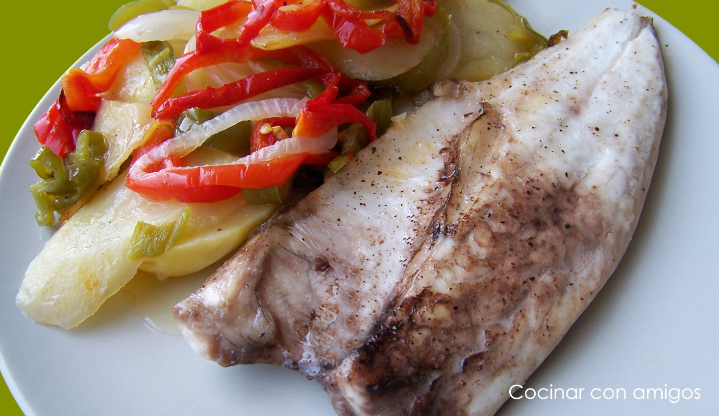 pescado con verduras al horno cocinar con amigos