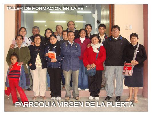 TALLER EN LA PARROQUIA VIRGEN DE LA PUERTA