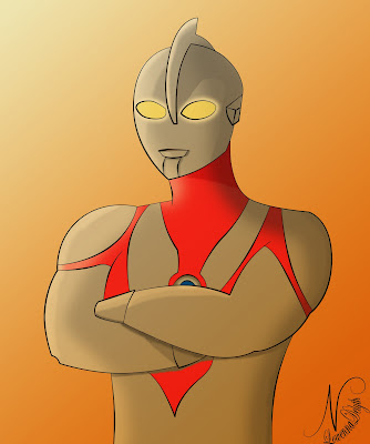 ultraman at sunset