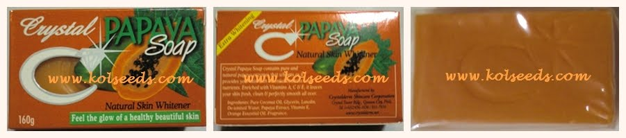Crystal Papaya Soap สบู่มะละกอตราเพชร