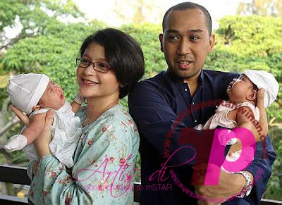 Anak Kembar Sharifah Aleya Aza dan Asha | PERKAHWINAN artis MALAYSIA, news, scandal, gossip, Weddings, Families, Divorces of Celebrities
