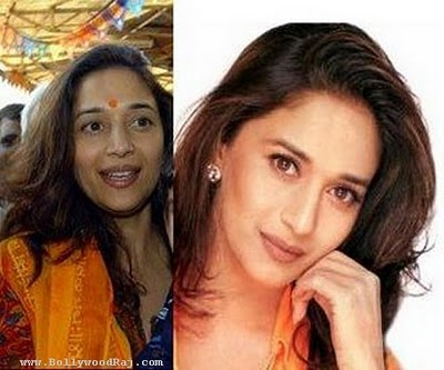 bollywood stars without makeup. Madhuri dixit without makeup
