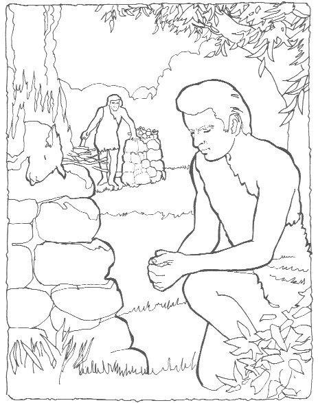 Cain And Abel Printable Coloring Pages Cain And Abel Coloring Page