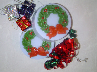 Mold Market Christmas Wreath Soap Mold