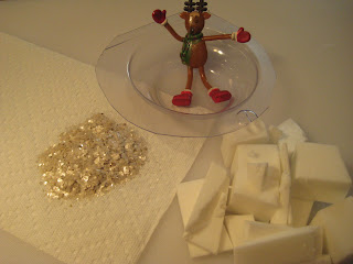 Melt and Pour Skating Reindeer Soap