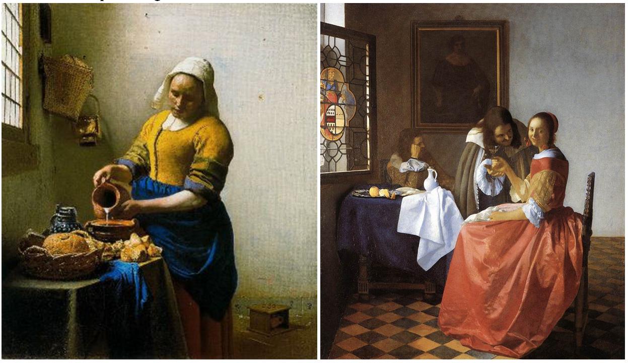 Arte barroco la pintura flamenca y holandesa en el siglo xvii - La lechera de vermeer ...