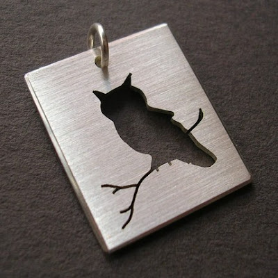 cut out owl pendant from etsy