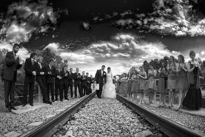 vestuvinės fotosesijos prie bėgių