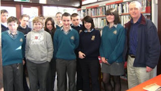Ré O Laighleis with Young Writers from Kilrush & Kilkee Community Colleges