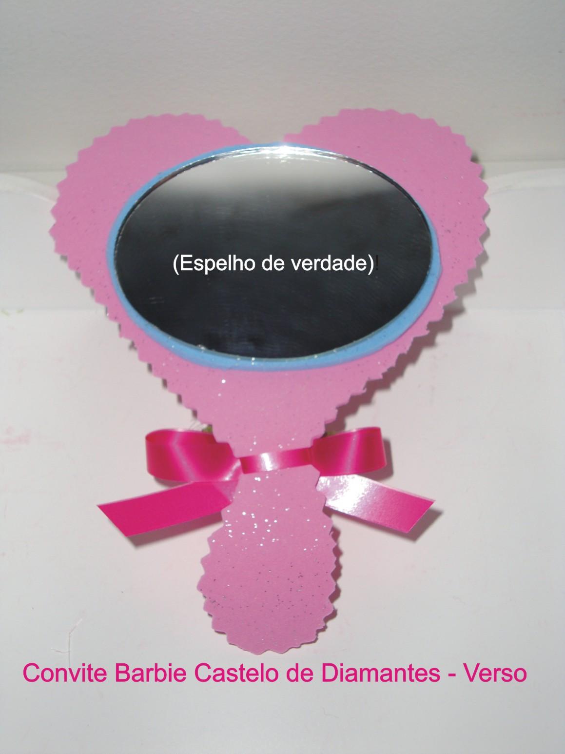 Convite Barbie Castelo De Diamantes