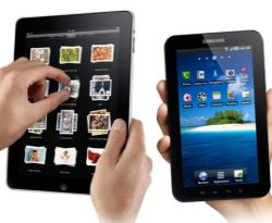 iPad and Galaxy Tab