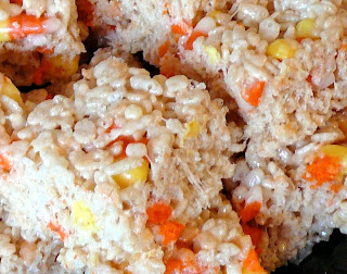 Rice Krispy Candy Corn Treats