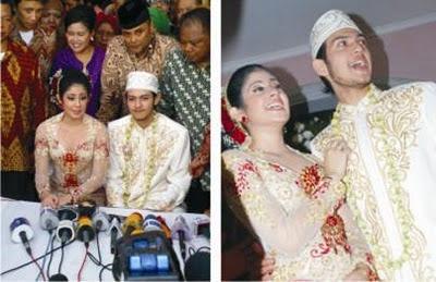 Foto Eksklusif 5 Pernikahan  Risty Tagor-Rifky Balweel