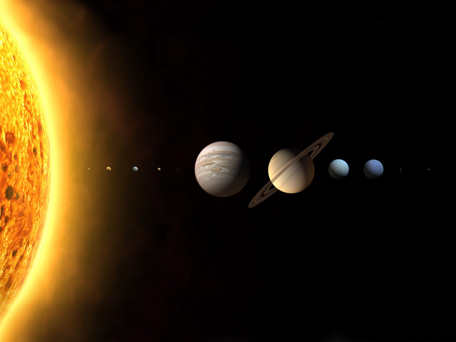 Solar System Galaxy high resolution widescreen