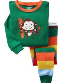 Gap Pyjamas (Green Monkey)