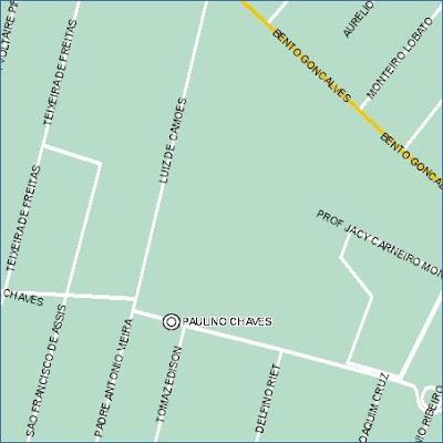 endereço e mapa da Escola Especial de Ensino Fundamental para Surdos Frei Pacífico, na Rua Paulino Chaves, nº 235, Bairro Santo Antônio, CEP 90640-200, Porto Alegre, RS
