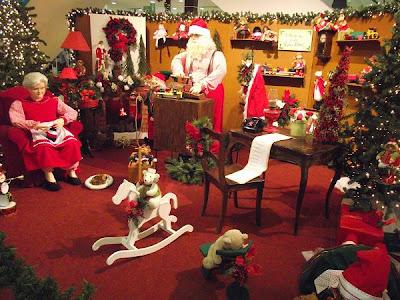 oficina do Papai Noel no Natal