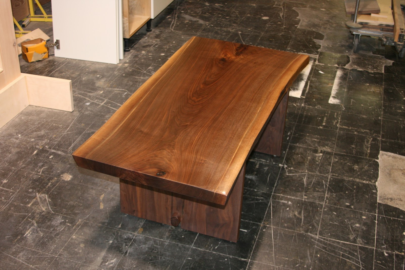 Nabil Abdo Walnut Slab Coffee Table Part 3