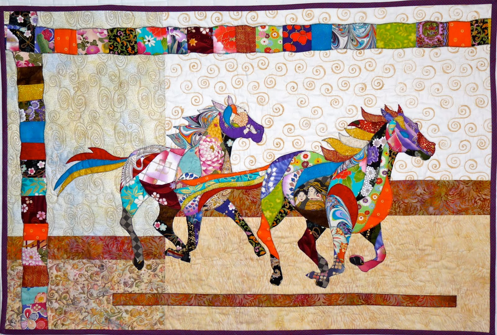 Quilting Horse Patterns : Northeast Quilting Friends Quilt Guild: More horse quilts get finished and some new projects ...