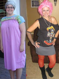 Halloween 2008 210 Pounds LEFT VS Halloween 2009 RIGHT 133lbs