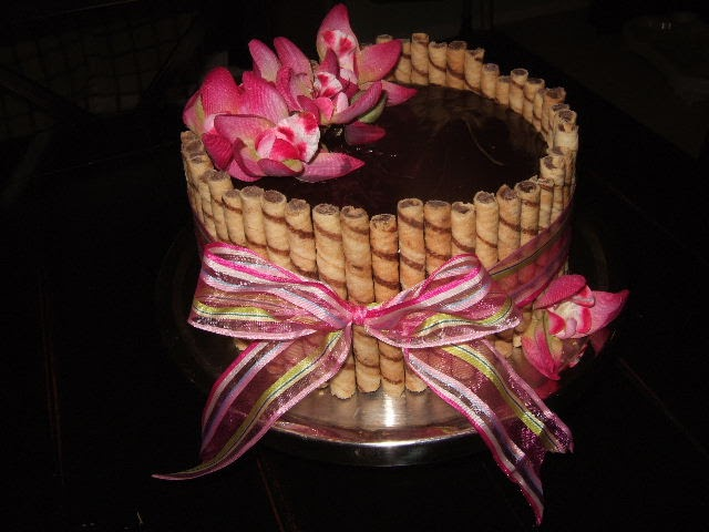 Cakes For Goodness Sakes Pirouline Cookie And Ribbon