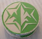 Fondant topped cake