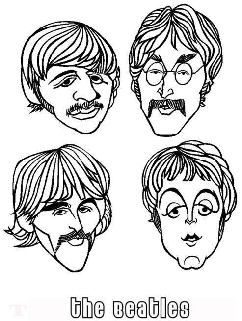 Hermosa Beatles Para Colorear Ilustración - Ideas Para Colorear ...