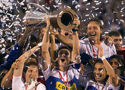 Celebración Universidad Católica campeón 2010