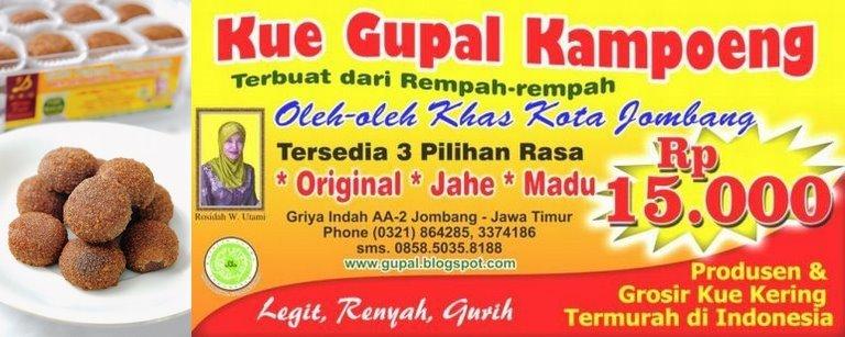 Kue GUPAL Kampoeng DKU - Makanan Oleh-oleh Khas Kota Jombang, Jawa Timur - Wisata News - Produk UKM