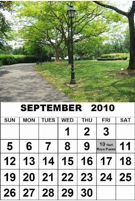 free singapura kalendars 2010